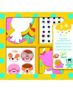 Djeco Create With Stickers - I Love Animals