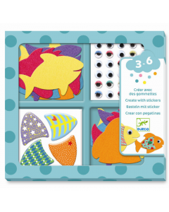 Djeco Create With Stickers - I Love Fish