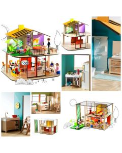 Djeco Cubic Dolls House Bundle