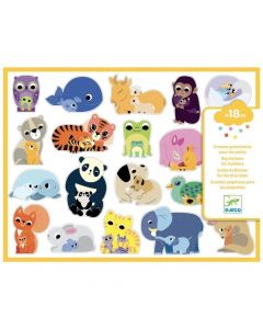 Djeco Easy Peel Big Stickers for Toddlers - Mums and Babies DJ9077