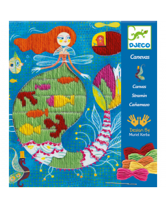Djeco Embroidery Canvas - Mermaid