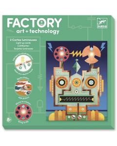 Djeco Factory Cyborgs - light up cards