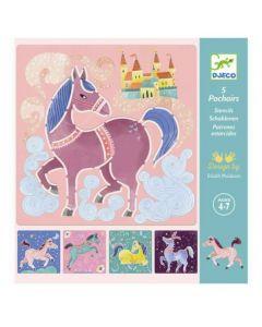 Djeco Horses Stencils DJ08915