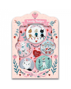 Djeco Lovely Paper - Cats Lovely Badges