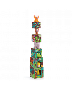 Djeco Maxi Topanijungle Stacking Cubes Toy