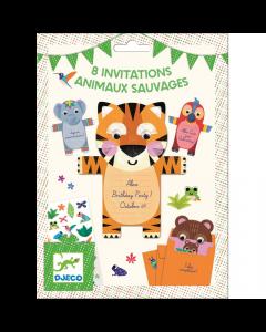 Djeco Party Invitations - Wild Animals