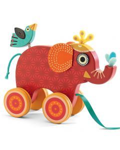 Djeco Pull Along Toy Elephant
