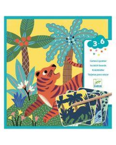 Djeco Scratch Boards - Big Animals DJ09095