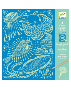 Djeco Scratch Boards - Sea Life