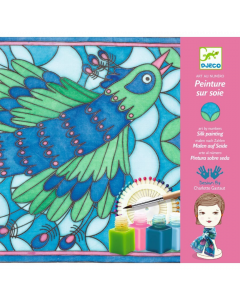 Djeco Silk Scarf Painting, Peacock