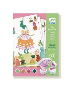 Djeco Stamps - Flower Girls