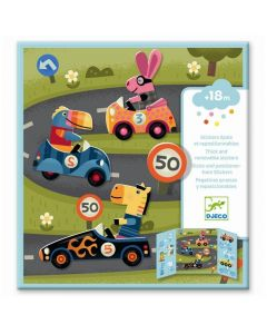 Djeco Thick & Easy Reusable Stickers for Little Ones - Cars DJ9073