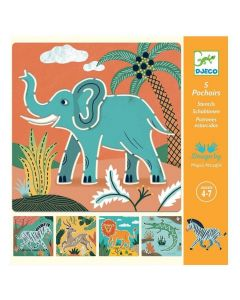 Djeco Wild Animals Stencils DJ08916