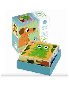 Djeco Wooden Block Puzzle - Wouaf & Co. DJ01903