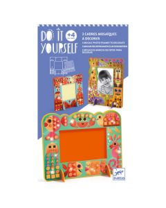 Djeco Do It Yourself Mosaic Photo Frames to Decorate - Animals