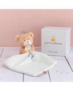 Little King Bear with Comforter