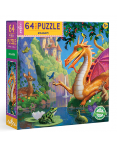 Eeboo Dragon 64 piece puzzle