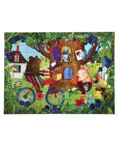 Eeboo Bear On Bicycle 20 piece puzzle
