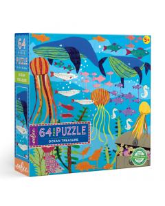 Eeboo Ocean Treasure - 64 Piece Puzzle