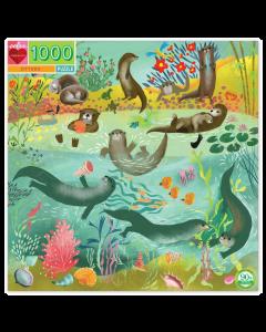 Eeboo Otters 1000 Piece Puzzle