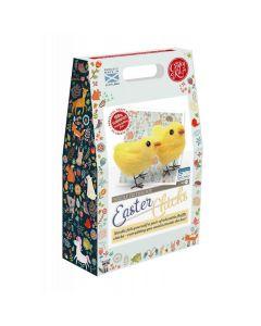 The Crafty Kit Co, Needle Felting Kit - Easter Chicks