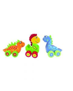 Orange Tree First Dinosaurs Wooden Vehicles