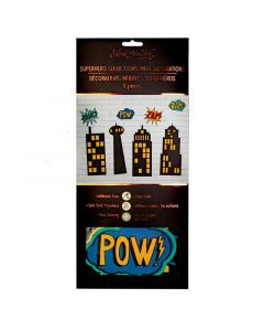 Superhero Static Cling Wall Decorations (x8) - save 25%