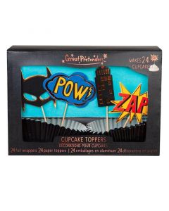 Superhero Cupcake Toppers (x24) - save 25%