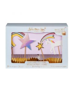 Unicorn Cupcake Toppers (x24) - save 25%