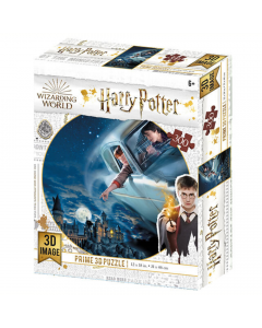 Harry Potter 3D 300 Piece Puzzle - Ford Anglia Over Hogwarts