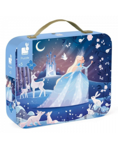 Janod Suitcase Jigsaw Puzzle - Icy Enchantment
