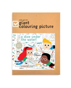 Makii Giant Colouring Picture - Diving Under The Water!
