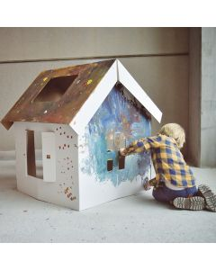 Colour Me In Cardboard Playhouse