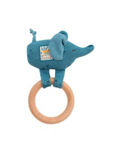 Moulin Roty Sous Mon Baobab - wooden giraffe ring rattle 669008