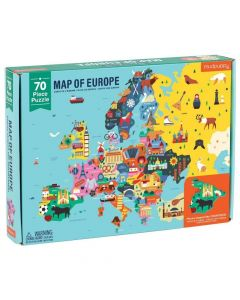 Mudpuppy Puzzle - 70 Piece Geography Puzzle Europe