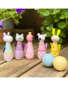 Animal Fairy Wooden Skittles - Orange Tree Toys