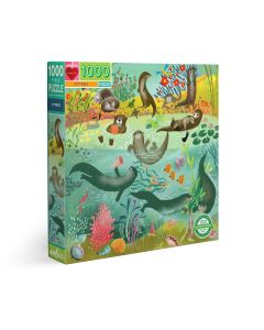 Eeboo Otters 1000 Piece Puzzle