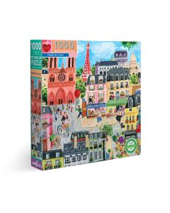 EeBoo Paris In A Day 1000 Piece Family Puzzle