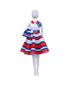 Peggy Stripes Dress Your Doll