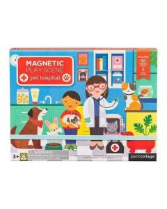 Petit Collage - Pet Hospital Magnetic Play Scene