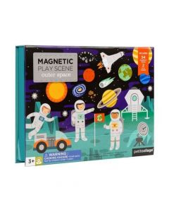 Petit Collage Magnetic Play Scene - Space PTC244