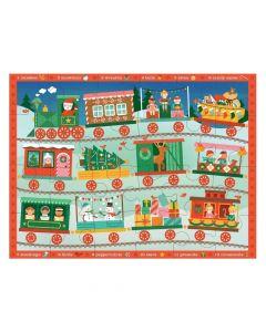 Petit Collage Christmas Train Floor Puzzle