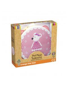 Orange Tree Toys - Pink Mouse Tambourine - save 10%