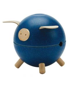 Plan Toys - Piggy Bank - Blue 8709