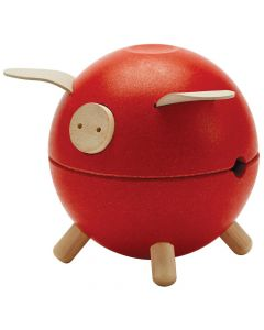 Plan Toys - Piggy Bank - Red 8708