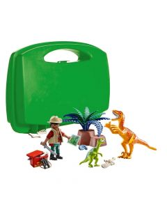 Playmobil 70108 Large Dino Explorer Carry Case 18PC Playset