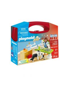 Playmobil City Life Vet Visit Carry Case