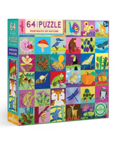Eeboo Portraits of Nature 64 piece puzzle