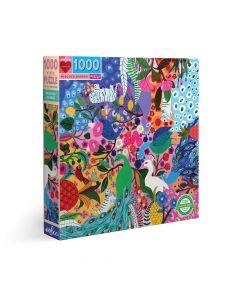 Eeboo Peacock Garden 1008 Piece Family Puzzle