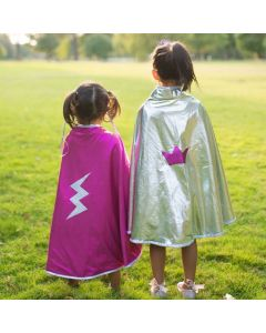 Great Pretenders Reversible Wonder Cape - Pink and Silver